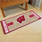 Wisconsin Badgers Basketball Court Runner Mat