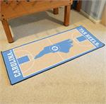 North Carolina Tar Heels Basketball Court Runner Mat