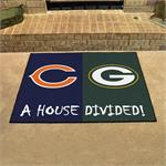 Chicago Bears-Green Bay Packers House Divided Mat