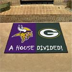 Minnesota Vikings-Green Bay Packers House Divided Mat
