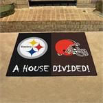 Pittsburgh Steelers-Cleveland Browns House Divided Mat