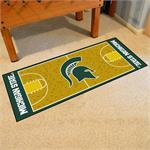 Michigan State Spartans Basketball Court Runner Mat
