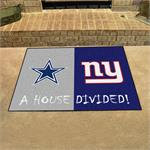 Dallas Cowboys-New York Giants House Divided Mat