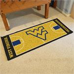 West Virginia Mountaineers Basketball Court Runner Mat