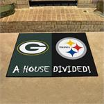 Green Bay Packers-Pittsburgh Steelers House Divided Mat