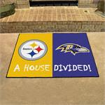 Pittsburgh Steelers - Baltimore Ravens House Divided Mat