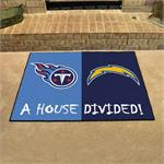 Tennessee Titans - Los Angeles Chargers House Divided Mat