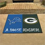 Detroit Lions - Green Bay Packers House Divided Mat