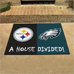 Pittsburgh Steelers - Philadelphia Eagles House Divided Mat