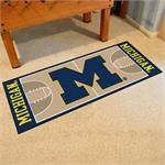 Michigan Wolverines Basketball Court Runner Mat