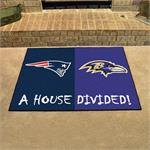New England Patriots - Baltimore Ravens House Divided Mat