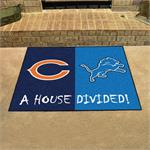Chicago Bears - Detroit Lions House Divided Mat