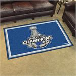 St. Louis Blues 2019 Stanley Cup Champions 5'x8' Plush Area Rug