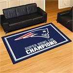 New England Patriots Super Bowl LIII Champions 5'x8' Plush Area Rug