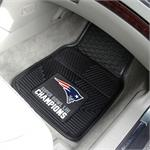 New England Patriots Super Bowl LIII Champions Vinyl Car Mats