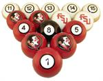 Florida State Seminoles Numbered Pool Balls