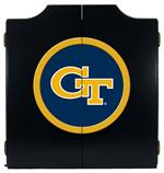 Georgia Tech Black Dart Board Cabinet