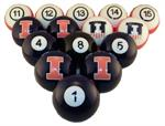 Illinois Fighting Illini Numbered Pool Balls