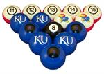 Kansas Jayhawks Numbered Pool Balls