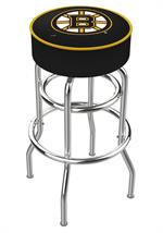 Boston Bruins Double Ring Swivel Bar Stool