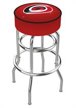 Carolina Hurricanes Double Ring Swivel Bar Stool