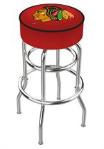 Chicago Blackhawks Double Ring Swivel Bar Stool