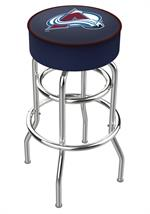 Colorado Avalanche Double Ring Swivel Bar Stool
