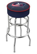Columbus Blue Jackets Double Ring Swivel Bar Stool