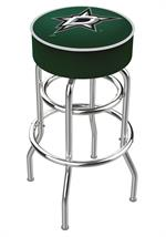 Dallas Stars Double Ring Swivel Bar Stool