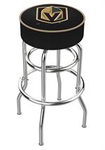 Vegas Golden Knights Double Ring Swivel Bar Stool