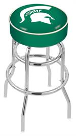Michigan State Spartans Double Ring Swivel Bar Stool