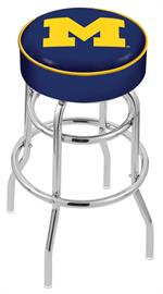 Michigan Wolverines Double Ring Swivel Bar Stool