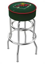 Minnesota Wild Double Ring Swivel Bar Stool