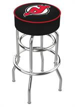 New Jersey Devils Double Ring Swivel Bar Stool