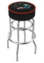 San Jose Double Ring Swivel Bar Stool
