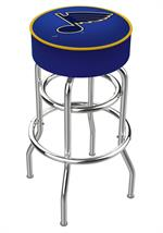 St. Louis Blues Double Ring Swivel Bar Stool
