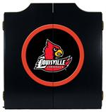 Louisville Cardinals Black Dart Board Cabinet
