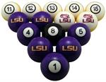 LSU Tigers Numbered Pool Balls