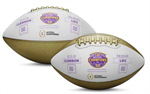 LSU Tigers College Football Playoff 2019 National Champions Commemorative Metallic Football