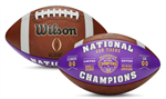 LSU Tigers College Football Playoff 2019 National Champions Leather Commemorative Football