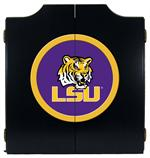 LSU Tigers Black Dart Board Cabinet