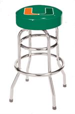 Miami Hurricanes Bar Stool