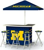 Michigan Wolverines Deluxe Portable Tailgate Bar Set