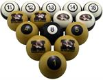 Missouri Tigers Numbered Pool Balls