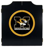 Missouri Tigers Black Dart Board Cabinet