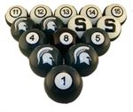 Michigan State Spartans Numbered Pool Balls