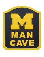 Michigan Wolverines Man Cave Shield