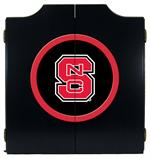 North Carolina State Wolfpack Black Dart Board Cabinet