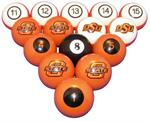 Oklahoma State Cowboys Numbered Pool Balls
