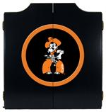 Oklahoma State Cowboys Black Dart Board Cabinet